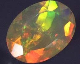 1.81ct Faceted Amazing Layered Opal! Pinfire Ribbons Flames
