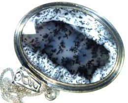 58 CTS DENDRITIC OPAL  PENDANT  OF-854