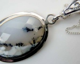 28 CTS  DENDRITIC OPAL  PENDANT  OF-869