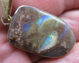 electroplated opal pendant.