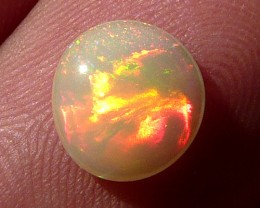 1.05ct Fire bomb perfect polished white Welo opal.