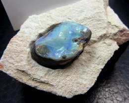 BUSINESS CARD HOLDER WITH   BOULDER  OPAL   MMM 84