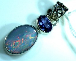 SOLID OPAL  SILVER PENDANT  9.80  CTS  OF-171