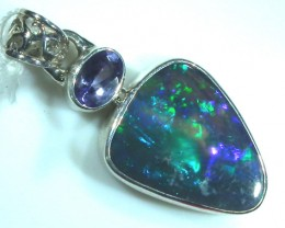 SOLID OPAL  SILVER PENDANT  13.90  CTS  OF172-