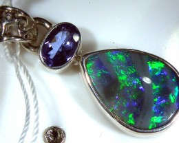 SOLID OPAL  SILVER PENDANT 11.5   CTS  OF-173
