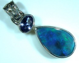 SOLID OPAL  SILVER PENDANT 10.50   CTS  OF-175