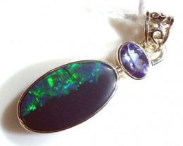 SOLID OPAL  SILVER PENDANT 12.75   CTS  OF-178