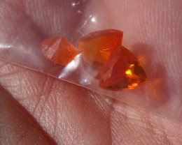 1.01 Cts. Lot (C-20) 3 pcs Faceted Fire Mexican Opal