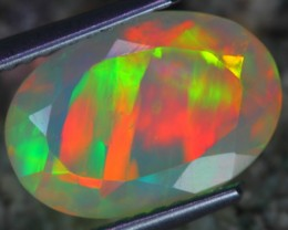2.39Ct ~GORGEOUS PARALLEL STRAW Welo Faceted Opal~