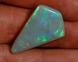 28.60 carat Kite cut Opal Ridge opal block green multicolour
