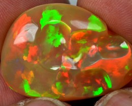 23.5ct Welo Opal with Stunning Patchwork Fire Patterns