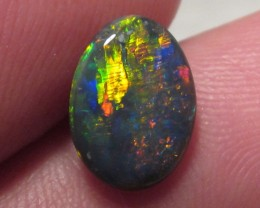 BLACK OPAL/RED ORANGE GREEN/N2/COLLECTOR/RING STONE/1.65CT