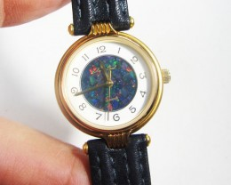 LADIES MOSIAC  OPAL WATCH LEATHER BAND CK 1800