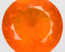 6.18 Cts Round Shape Natural Orange Mexican Fire Opal 1$