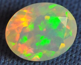 FACETED WELO OPAL HNY CELLED/PATCHWORK MULTI COLOR 1.60 CTS.