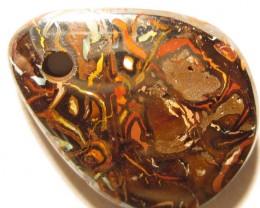 Drilled Boulder Opal.