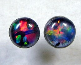 3X3 MM  TRIPLET  OPAL  STERLING SILVER  EARRINGS CF 350