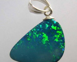 VERY NICE OPAL DOUBLET PENDANT SET WITH SILVER