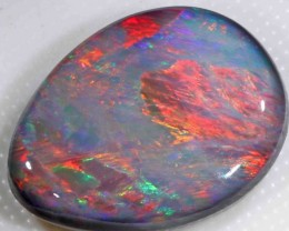 FREE SHIPPING  9.20 ct LOVELY BRIGHT RED BLACK OPAL