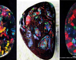 NEW STUNNING POSTERS OF 3 GEM OPALS AVAILABLE ON THIS SITE