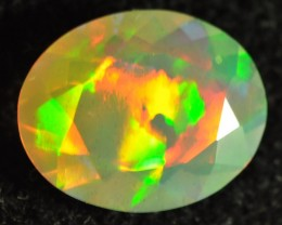 STUNNING FACETED WELO W/FLAGSTONE PATTERNS 2.60CTS.