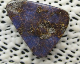 COLOURMINE OPALS>14.20.cts DRILLED LOVELY BOULDER OPAL