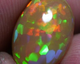 3.60 ct Brilliant Dark Welo Opal Cell With Hexagon Pattern