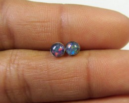 4x4 MM  TRIPLET OPAL STERLING SILVER EARRINGS CF 439