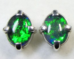 10X8 MM  TRIPLET OPAL STERLING SILVER EARRINGS CF 481