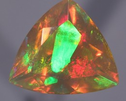2.49ct. Faceted. Honey Cyrstal with Geometric Shapes.