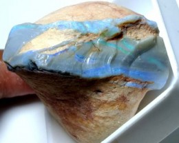 BLACK OPAL ROUGH  L. RIDGE  135  CTS   DT-3807