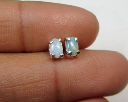 5X3 MM SOLID OPAL STERLING SILVER EARRINGS CF 500