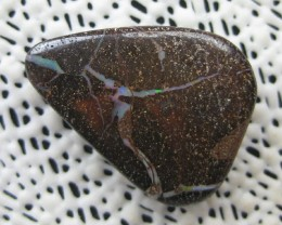 COLOURMINE OPALS>41.40.cts DRILLED PATTERN BOULDER OPAL