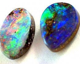 1.50ct 2pc Australian Lightning Ridge Opal Pair MH03