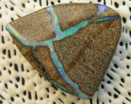 COLOURMINE OPALS>32.10.cts DRILLED LOVELY BOULDER OPAL