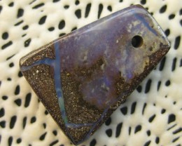 COLOURMINE OPALS>13.20cts DRILLED LOVELY BOULDER OPAL