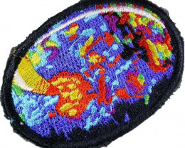 HAND EMBROIDED OPAL  BADGE -[MS101] FREE SHIPPING