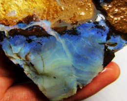 72GMS  OWN PART OF BOULDER HISTORY-ROUGH OPAL MMM 308