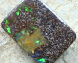 21.00 CTS BOULDER OPAL PENDANT STONE DRILLED + CORD TO WEAR C1797