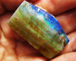 23GMS  OWN PART OF BOULDER HISTORY-ROUGH OPAL MMM 492