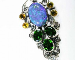 OPAL [STABILIZED} + ASSORTED GEM STONES PENDANT [SOJJ3 ]