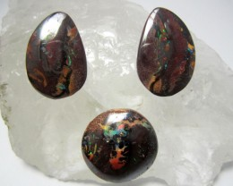 66.1CTS THREE PIECE SET YOWAH OPAL   MMM 583