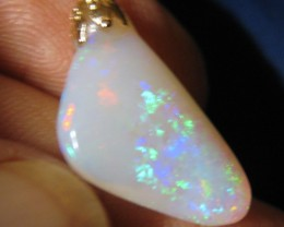 6.25 CT FREEFORM BRAZILIAN OPAL IN 14K PENDANT