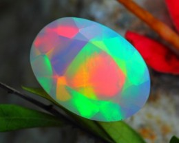 2.52Ct Brilliant Color Play Ethiopian Facted Opal