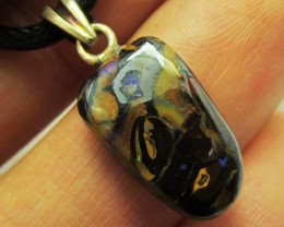 8.1CTS SILVER BALE BOULDER OPAL PENDANT MMM 619