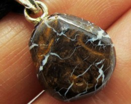 9.5CTS SILVER BALE BOULDER OPAL PENDANT MMM 629