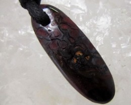 12.25CTS BOULDER OPAL PENDANT ON NECKLACE  MMM 7