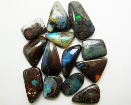 37.45 CTS 13 PIECES BOULDER OPAL   MMM 755