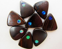 47 CTS PARCEL BOULDER  IRONSTONE OPAL WITH INLAY    MMM 763