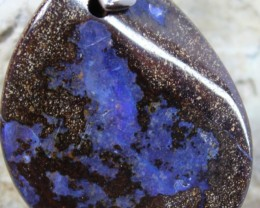 60.25 CTS BOULDER OPAL PENDANT WITH BAIL + CORD TO WEAR C2272